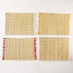 Tassel Raffia Placemats, Set of 4 | Anthropologie (US)