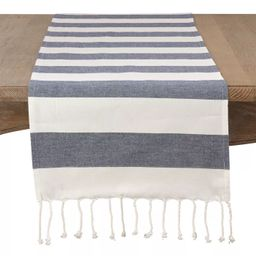 Saro Lifestyle Striped Cotton Table Runner | Target