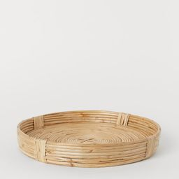 Large Braided Rattan Tray | H&M (US)