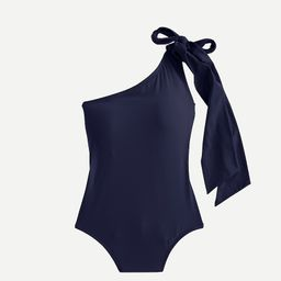 Bow-tie one-shoulder one-piece swimsuit | J.Crew US
