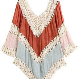 'Rachel' Colorblock Crochet Beach Cover Up (2 Colors) | Goodnight Macaroon
