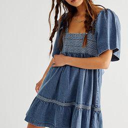 Easy To Love Denim Mini Dress   Free People (US)