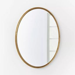 """26"""" x 36"""" Oval Shape Antique Mirror Brass - Threshold™ designed with Studio McGee 