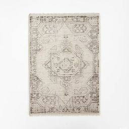Knolls Authentic Hand Knotted Distressed Persian Rug Ivory - Threshold™ designed with Studio Mc... | Target