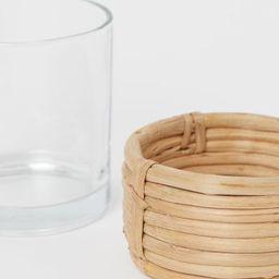 Glass/Rattan Tea Light Holder | H&M (US)