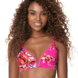Maaji Fuchsia Agate Parade Long Line Triangle Bikini Top | Maaji