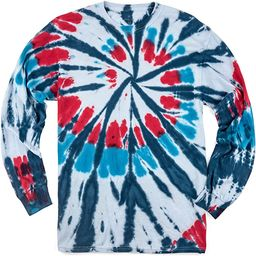 Magic River Long Sleeve Handcrafted Tie Dye T Shirts - 6 Adult Sizes - 5 Color Patterns   Amazon (US)