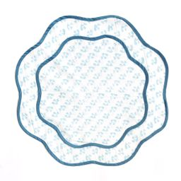 THE SCALLOPED TEAL PLACEMAT | Hunter Blake Designs