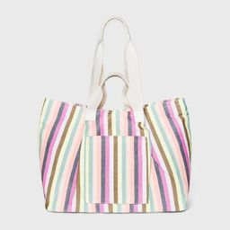 Striped Magnetic Closure Tote Handbag - Universal Thread™ | Target