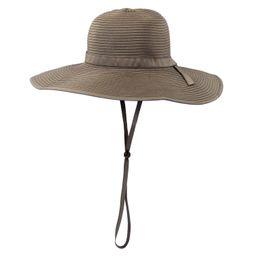 Women's Wide Brim Sun Hat - Brown | SwimZip