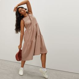 The Weekend Tiered Dress   Everlane