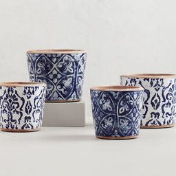 Hand Painted Patterned Ceramic Planters | Pottery Barn (US)