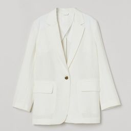 Lyocell-blend jacket   H&M (UK, IE, MY, IN, SG, PH, TW, HK, KR)