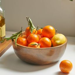 Teak Wood Serving Bowl | Urban Outfitters (US and RoW)