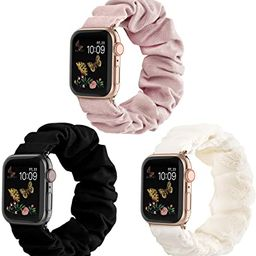 Recoppa Compatible for Scrunchie Apple Watch Band 38mm 42mm 40mm 44mm Cute Print Elastic Watch Ba... | Amazon (US)