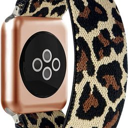 BMBEAR Stretchy Strap Loop Compatible with Apple Watch Band 38mm 40mm 42mm 44mm iWatch Series 6/5... | Amazon (US)