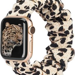 TOYOUTHS Compatible with Apple Watch Band Scrunchies 38mm Cloth Soft Pattern Printed Fabric Brace... | Amazon (US)