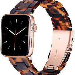 HomGoodz Bands Compatible with 38mm Apple Watch Band 40mm Series 4 Resin Watch Strap Light and Wa... | Amazon (US)