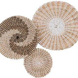 Handmade Hanging Wall Basket Decor - (Set of 3) - Round Woven Basket Wall Decor - Natural Boho Ho...   Amazon (US)