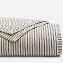 Ticking Stripe Classic Quilt | Red Land Cotton