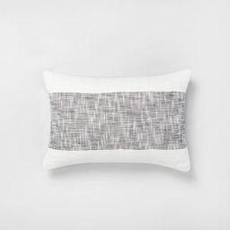 "14"" x 20"" Textured Lumbar Throw Pillow Railroad Gray / Sour Cream - Hearth & Hand™ with Magnoli...   Target"
