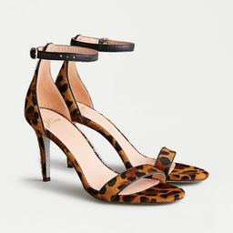 Riley sandals in leopard calf hair with glitter sole   J.Crew US