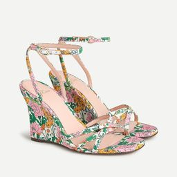 Wedge sandals in Liberty® Patchwork Dream floral   J.Crew US
