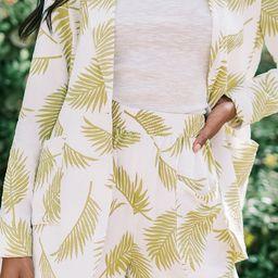 Beneath the Palms Linen Shorts   Amaryllis Apparel