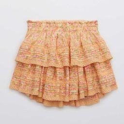 Aerie Rock 'n' Ruffle Printed Mini Skirt   American Eagle Outfitters (US & CA)