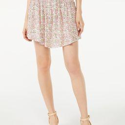 Scoop Women's Floral Mini Skirt with Smock Waist   Walmart (US)