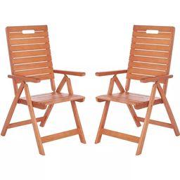 Rence Folding Chair (Set of 2) - Natural - Safavieh   Target