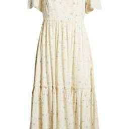 Folkmagic Floral Flutter Sleeve Tiered Maxi Dress   Nordstrom