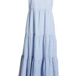 Lana Stripe Linen & Cotton Tiered Midi Sundress   Nordstrom