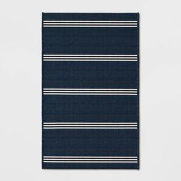 Stripe Outdoor Rug Navy - Threshold™   Target