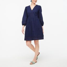 V-neck mini dress with trim | J.Crew Factory