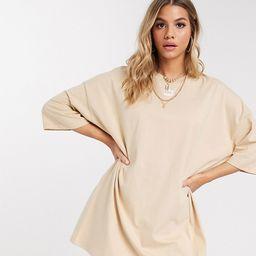 Puma t-shirt dress in pebble - exclusive to ASOS-White | ASOS (Global)