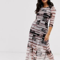 Nobody's Child midi dress in mesh tie dye-Purple   ASOS (Global)