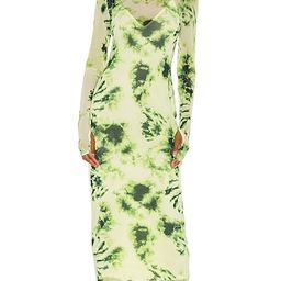 AFRM Shailene Midi Dress in Green. - size L (also in XS, S)   Revolve Clothing (Global)