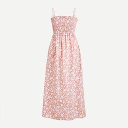 Smocked cotton poplin dress in rose vines | J.Crew US