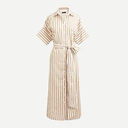 Relaxed-fit short-sleeve cotton poplin shirtdress in stripe | J.Crew US