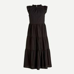 Tiered ruffle-sleeve cotton poplin dress | J.Crew US
