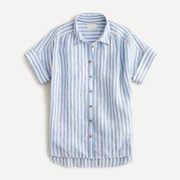 Relaxed-fit short-sleeve Baird McNutt Irish linen shirt in stripe | J.Crew US