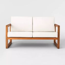 Kaufmann Wood Patio Loveseat - Linen - Project 62™ | Target