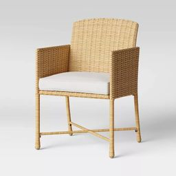 Eliot 2pk Closed Weave Patio Dining Chair - Threshold™ | Target