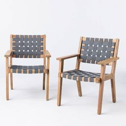 2pk Wood & Strapping Patio Club Chairs - Threshold™ designed with Studio McGee | Target