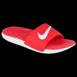 Nike Boys Nike Kawa Slide - Boys' Preschool Shoes University Red/Grey Size 02.0   Foot Locker (US)