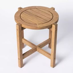 Bluffdale Wood Patio Accent Table - Threshold™ designed with Studio McGee, outdoor furniture    Target