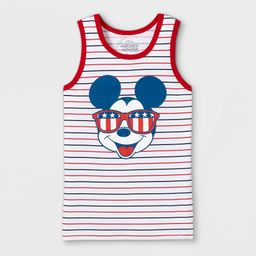 Boys' Disney Mickey Mouse American Shades Tank Top - White L   Target