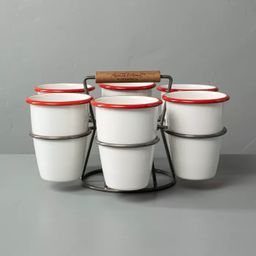 7pc Drink Caddy Set Red/Cream - Hearth & Hand™ with Magnolia | Target