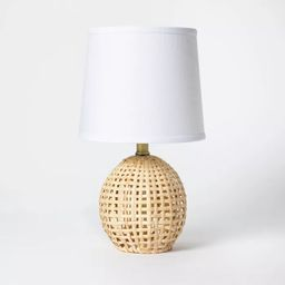 Round Rattan Accent Lamp Brown - Threshold™ | Target